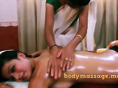 Ayurvedic massage to indian babe